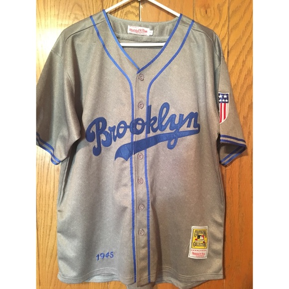 new styles dba7d de083 Brooklyn Dodgers Authentic Throwback Jersey 1945